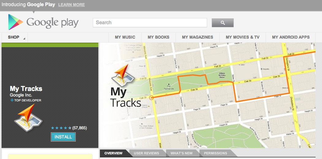 MyTracks Gets A Google Earth Update For Jogging Routes VatorNews - Google maps jogging route