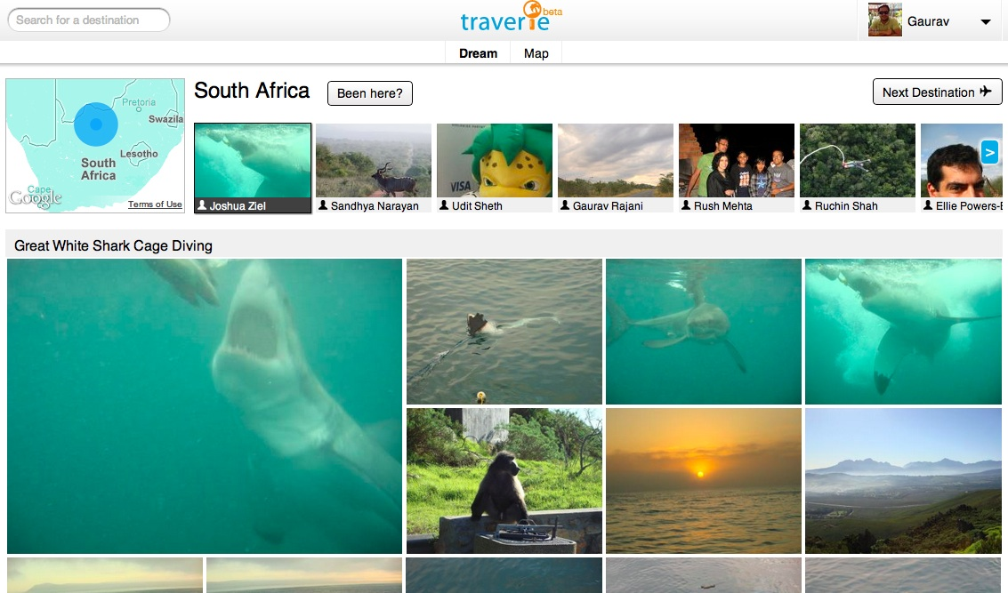Discover your friends' travel experiences