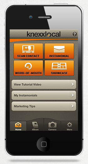 Instamonial by KnexxLocal - The iPhone App that Makes Word-of-Mouth Referrals Easy