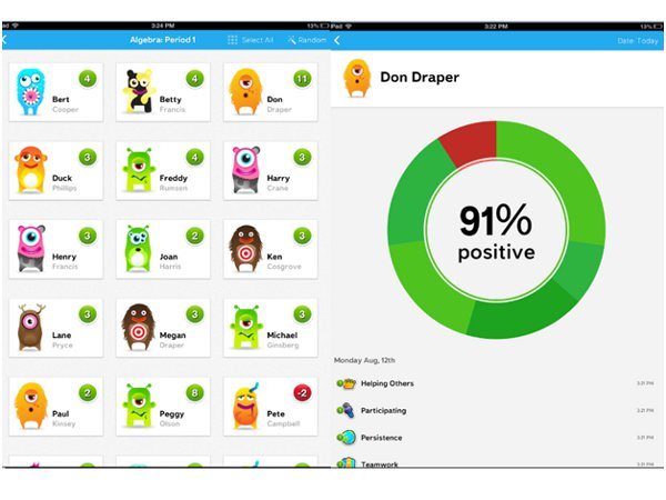 How does Class Dojo help students manage their classes?