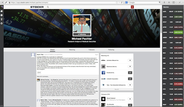 Pachter Profile Page