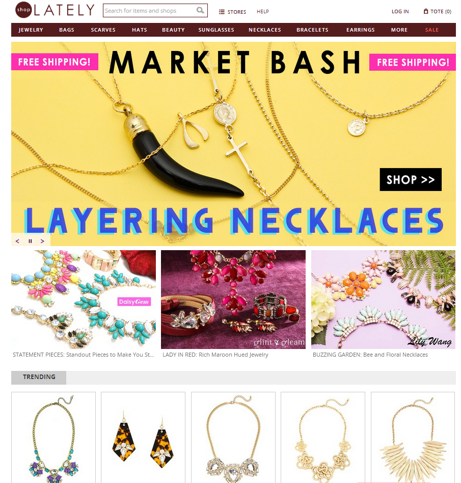 ShopLately Front Page