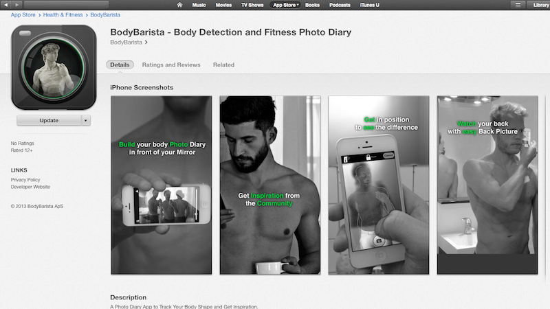 BodyBarista in iTunes Store