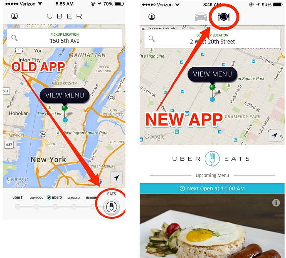 how to change password in uber eats