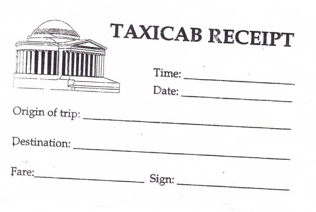 "taxi cab receipt  Uber users can now ""auto-expense"" their work rides 