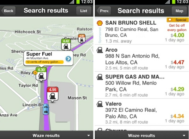 VatorNews | Waze updates real-time traffic app to quote gas