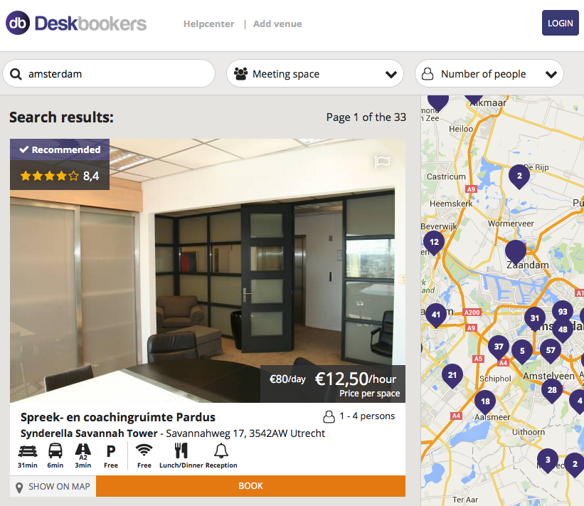 deskbookers secures 1 6m seed for office space booking. Black Bedroom Furniture Sets. Home Design Ideas