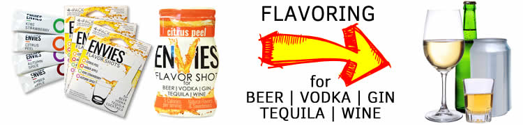Envies for Beer, Vodka, Gin, Tequila & Wine