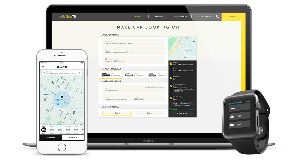 RoadYO Taxi Booking Script & Taxi Dispatching Software